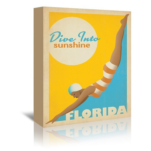 Americanflat Dive Into Florida By Anderson Design Group 16 X20 Target