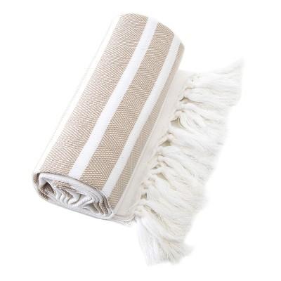 Herringbone Pesetemal Beach Towel Beige