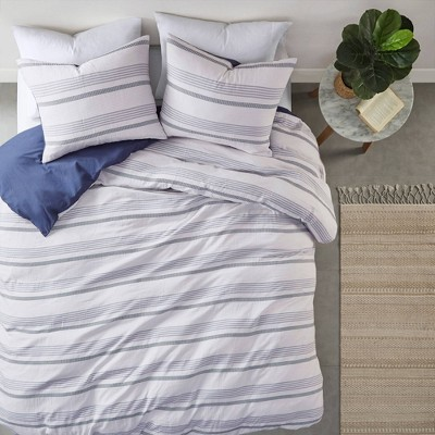 Ansley Striped Organic Cotton Yarn Dyed Duvet Set - Clean Spaces