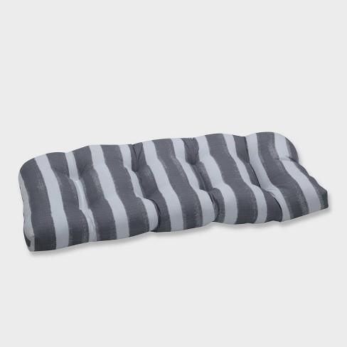 Nico Sea Salt Wicker Outdoor Loveseat Cushion Gray - Pillow Perfect - image 1 of 2