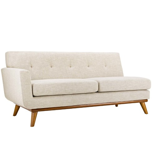 Engage RightArm Upholstered Loveseat Beige - Modway - image 1 of 3