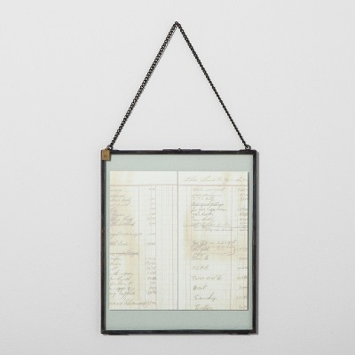 Pressed Glass Wall Frame with Chain (9.4 x11 )- Hearth & Hand™ with Magnolia