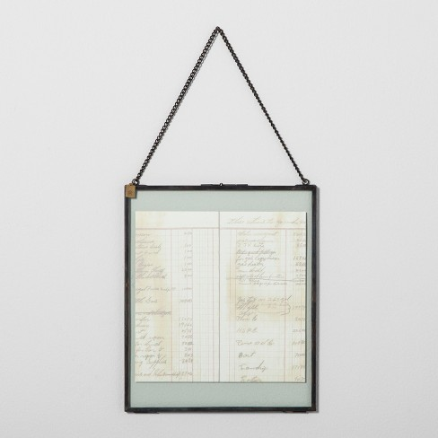 Pressed Glass Wall Frame with Chain - Hearth & Hand™ with Magnolia - image 1 of 3
