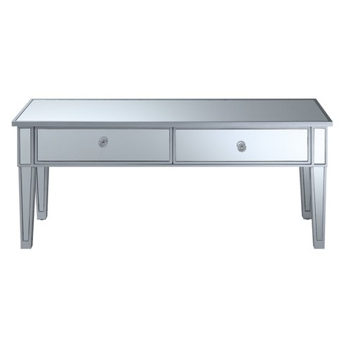 Gold Coast Mirror Coffee Table With Two, Target Mirror Table With Drawer