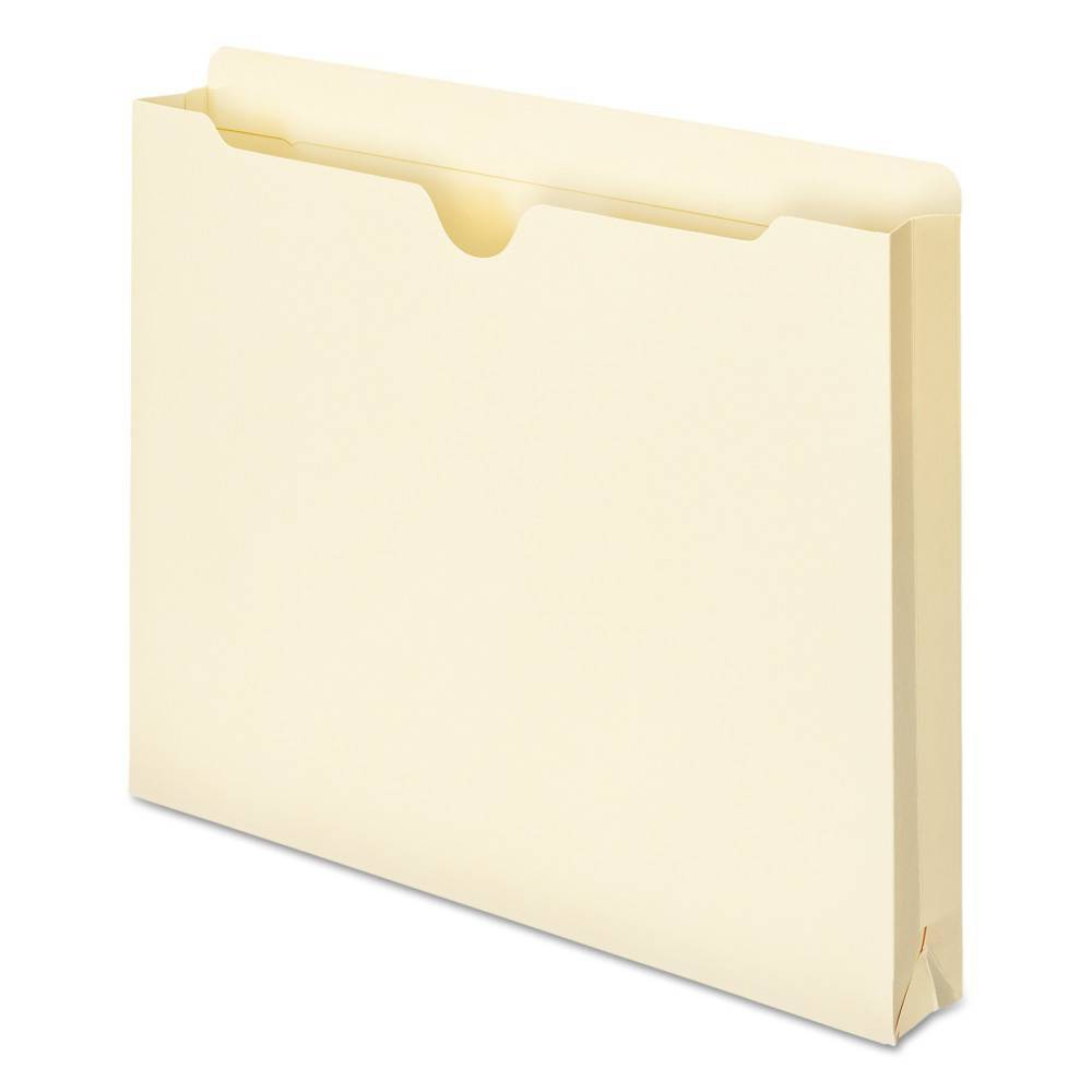 "Image of ""Smead Double-Ply Pocket File Jacket, 1 1/2"""" Accordion Expansion, Ltr, 11 Point Manila, 50/Box"""