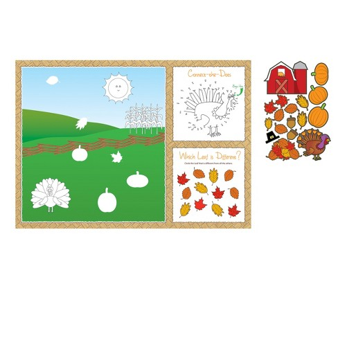 8ct Thanksgiving Activity Placemats - image 1 of 1