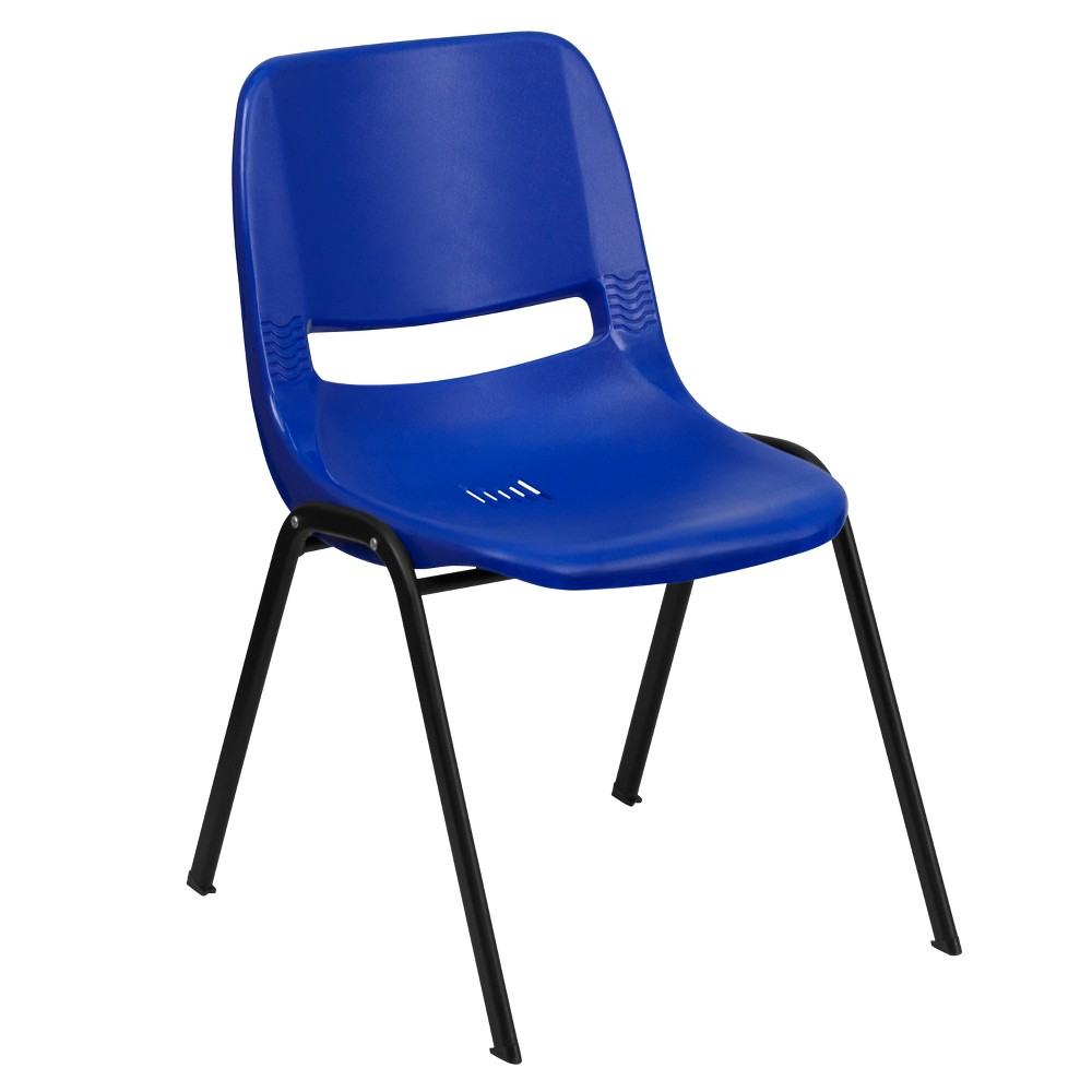 Riverstone Furniture Collection Plastic Stack Chair Blue
