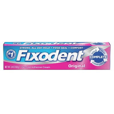 Fixodent Complete Original Denture Adhesive Cream - 2.4oz