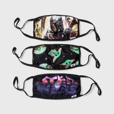 Adult 3pk Star Wars: The Mandalorian Cloth Face Mask - One Size