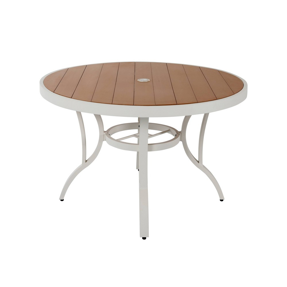 Image of Polywood Patio Dining Table White/Wood- Nuu Garden