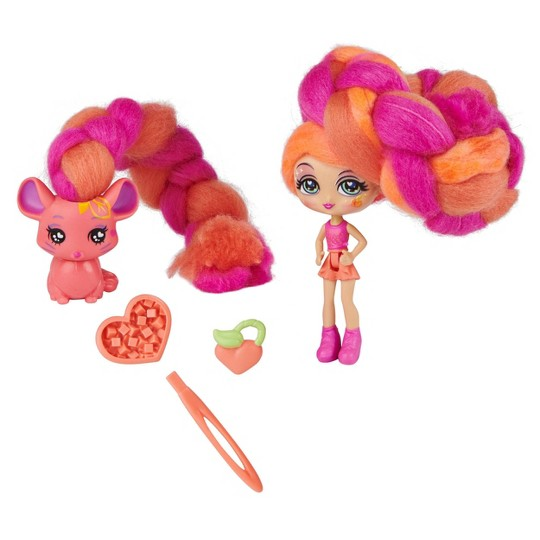 Candylocks Doll + Pet - Posie Peach & Fin-chilla image number null