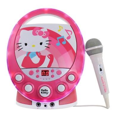 Hello Kitty Party CDG Disco Karaoke Machine in Pink