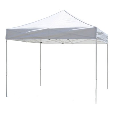 Z-Shade 10 x 10 Foot Venture Portable Lawn, Garden, and Outdoor Event Canopy Shade Tent Shelter with Rolling Bag and Stake Kit, White