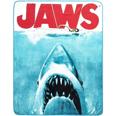 Silver Buffalo JAWS Movie Poster 50x60 Inch Micro-Plush Throw Blanket
