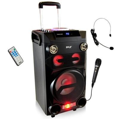 Pyle PA Loudspeaker Portable Bluetooth Karaoke Speaker System w/ Wireless Mic