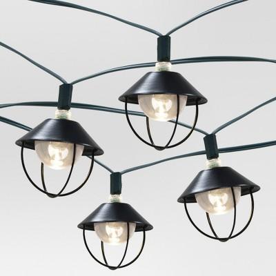 20ct Solar Metal Lantern Outdoor LED Light Set - Threshold™