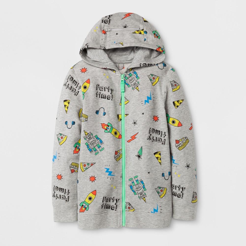 Boys' Hooded Sweatshirt - Cat & Jack Gray XS