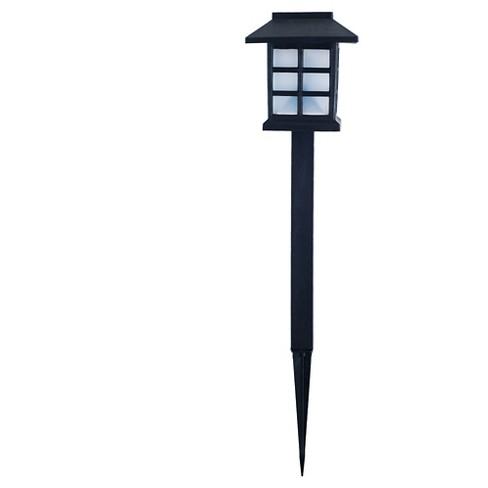 Pure Garden Outdoor LED Lantern Solar Landscaping Lights - Set Of 9 ...
