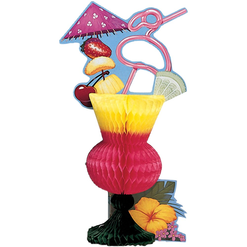 Image of Tropical Drink Centerpiece