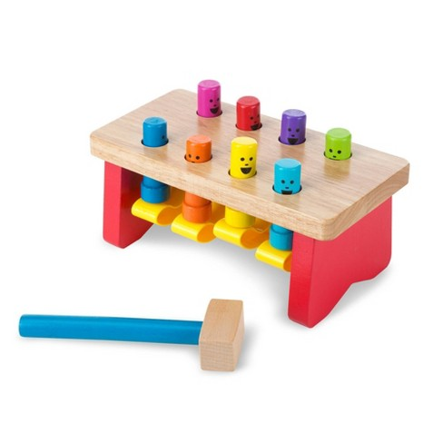 Melissa & Doug Deluxe Pounding Bench Wooden Toy With Mallet - image 1 of 4
