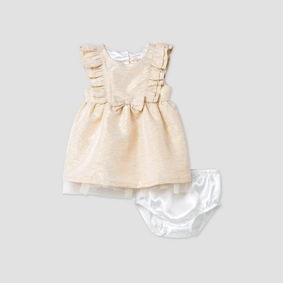 Baby Girls' Jacquard Dress - Cat & Jack™ Cream 6-9M