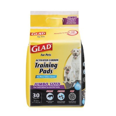 Glad Jumbo Activated Carbon Training Pads for Large Breeds - 30ct