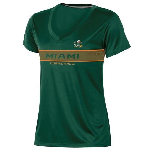 Miami Hurricanes Women's Short Sleeve V-Neck Performance T-Shirt - image 1 of 2