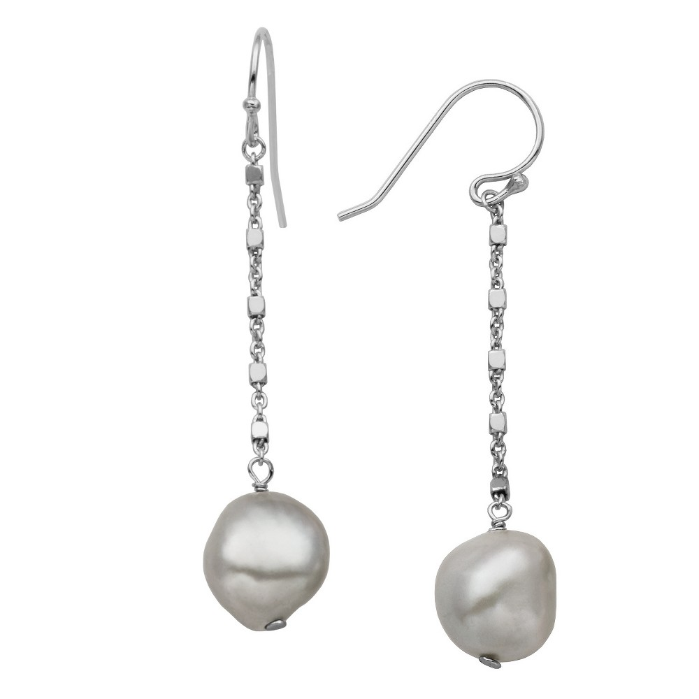 Sterling Silver Freshwater Cultured Pearl French Wire Dangle Earrings, Girl's