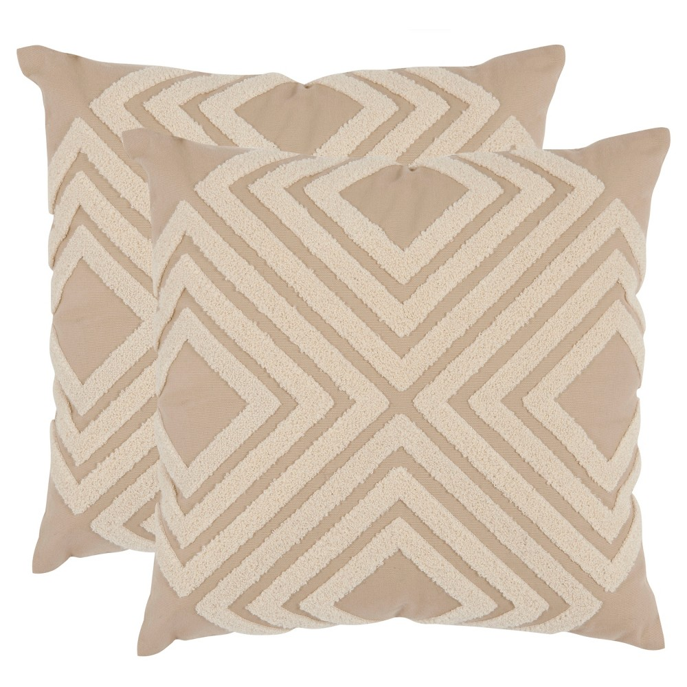 Cream Stella S/2 Throw Pillow (18
