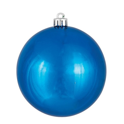 "Vickerman 8"" Blue Shiny Ball Christmas Ornament - image 1 of 1"