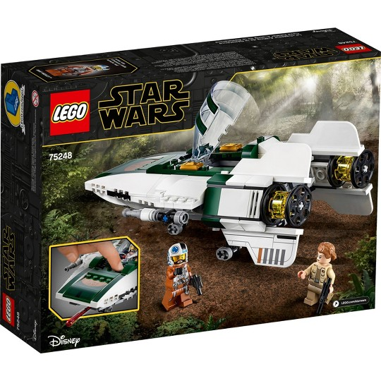 LEGO Star Wars: The Rise of Skywalker Resistance A-Wing Starfighter 75248 Advanced Collectible Starship Model Building Kit 269pc image number null