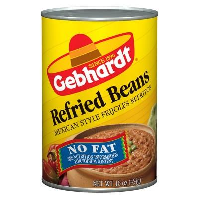Gebhardt No Fat Refried Beans - 16oz