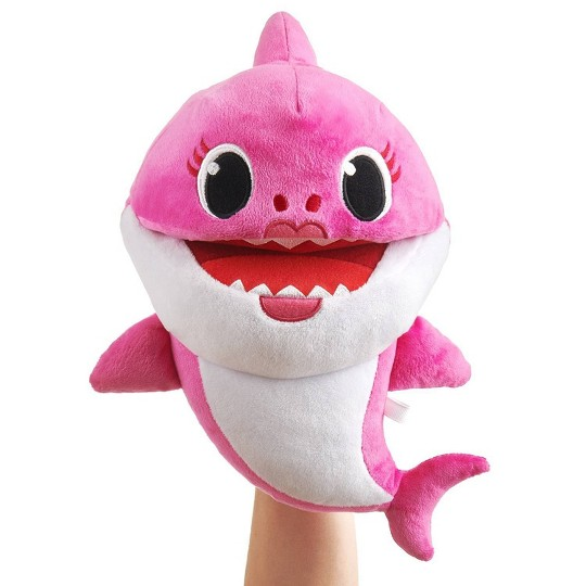 WowWee Shark Family Plush Puppet - Mommy Shark image number null