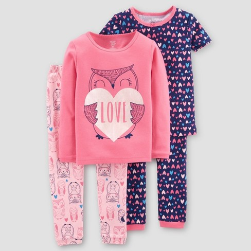 9d3c79fee Just One You® Made By Carter s Girls  4pc Candy Pajama Set - Pink ...