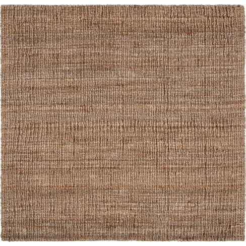 8 x8 solid woven square area rug natural gray safavieh