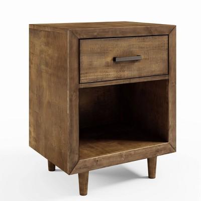 Aurora Mid Century Wood Nightstand Brown - Abbyson Living