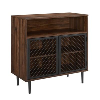 Modern Metal Door Accent Cabinet - Saracina Home