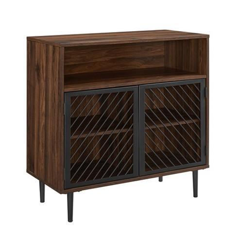 Modern Metal Door Accent Cabinet - Saracina Home - image 1 of 4