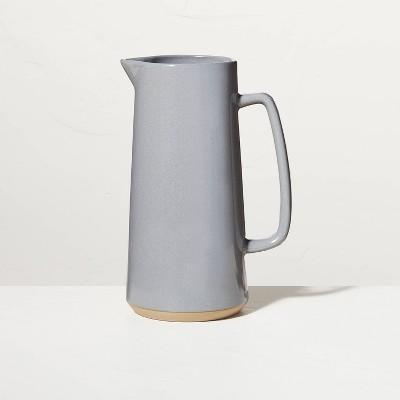Large 85oz Glazed Stoneware Pitcher Gray - Hearth & Hand™ with Magnolia