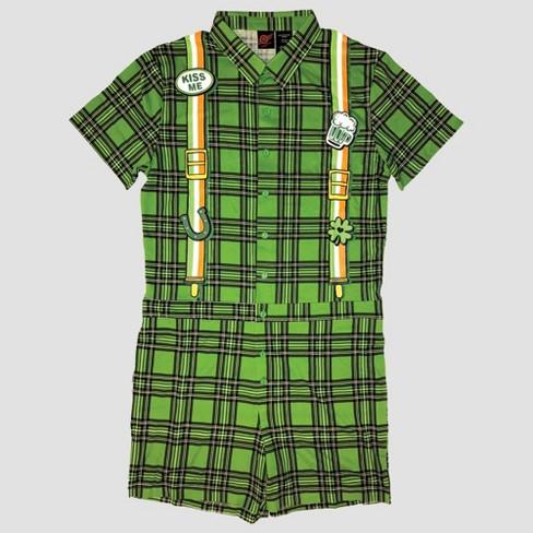 d771f2fc86 Men s Irish For Daze Short Sleeve Romper - Green   Target