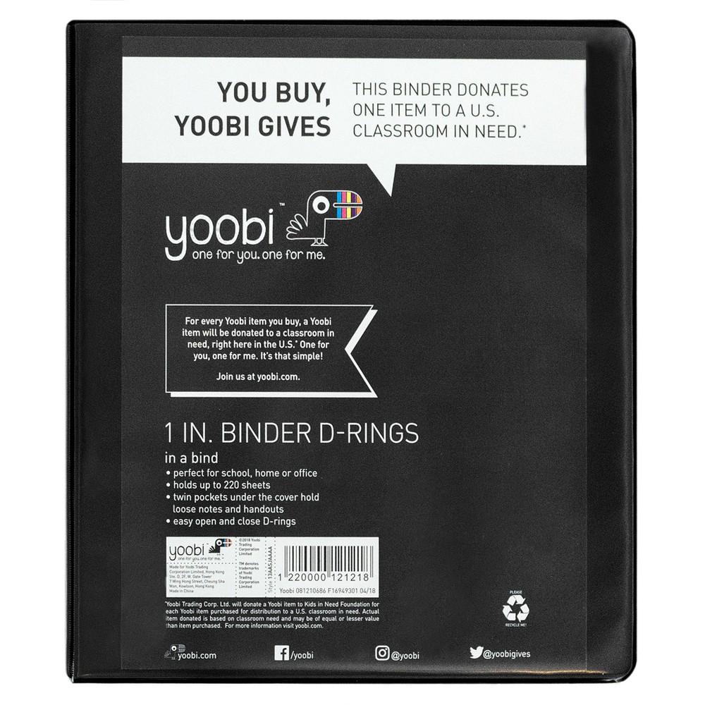 1 Ring Binder Black - Yoobi
