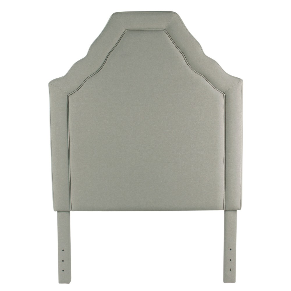 Image of Twin Upholstered Headboard Stain Resistant Gray - HomePop
