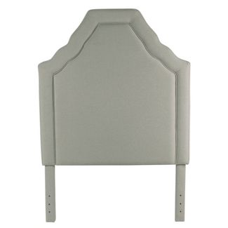 Twin Upholstered Headboard Stain Resistant Gray - HomePop