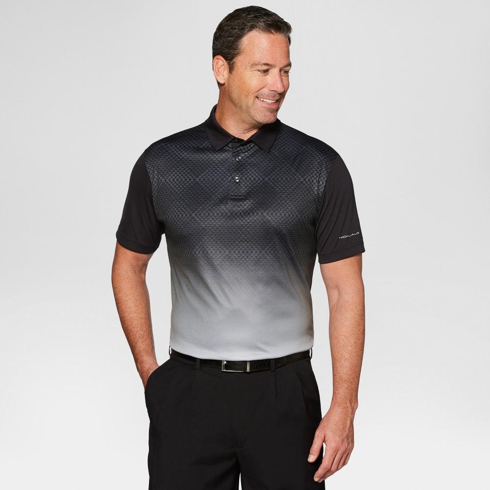 Image of Jack Nicklaus Men's Argyle Print Golf Polo Shirt - Caviar Black XL