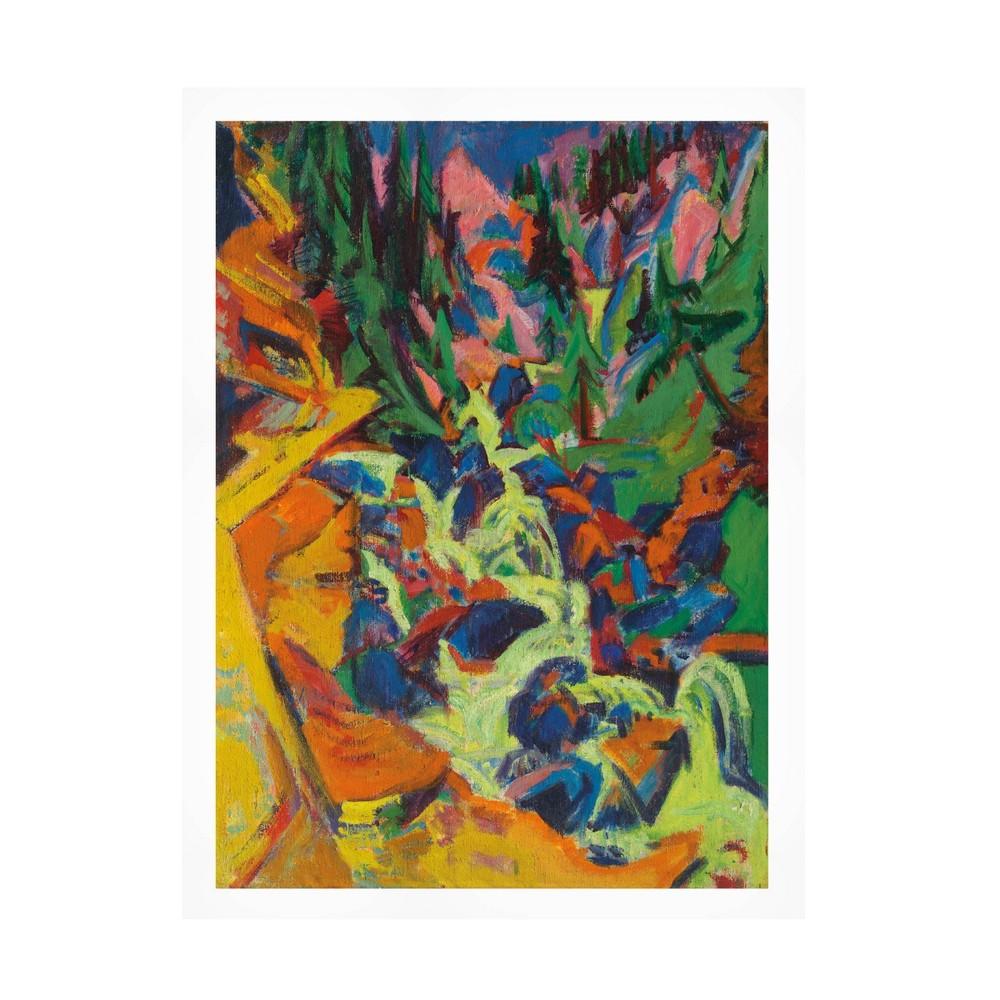 18 34 X 24 34 Ernst Ludwig Kirchner 39 The Waterfall 39 Unframed Wall Canvas Trademark Fine Art