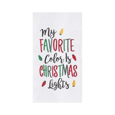 C&F Home Christmas Lights Colors Towel