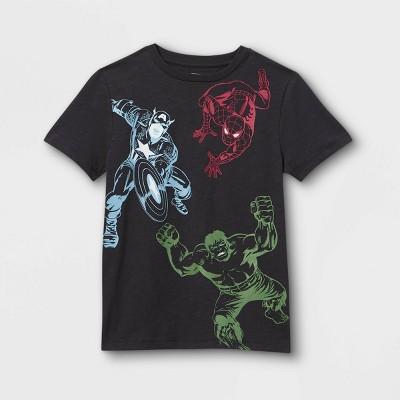 Boys' Marvel Team Up Short Sleeve Graphic T-Shirt - Black - Disney Store