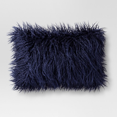 Mongolian Faux Fur Oblong Throw Pillow - Project 62™ - image 1 of 1
