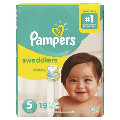 Pampers Swaddlers Diapers Jumbo Pack - Size 5 (19ct)