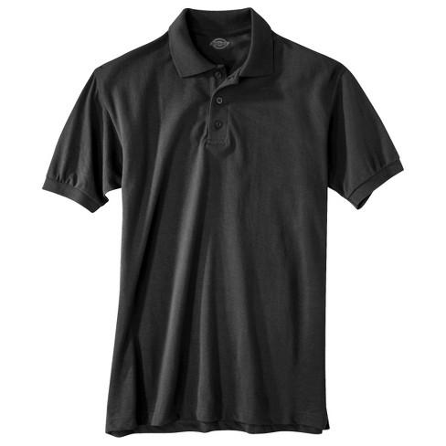 Dickies Men's Pique Uniform Polo Shirt - Black XXXL
